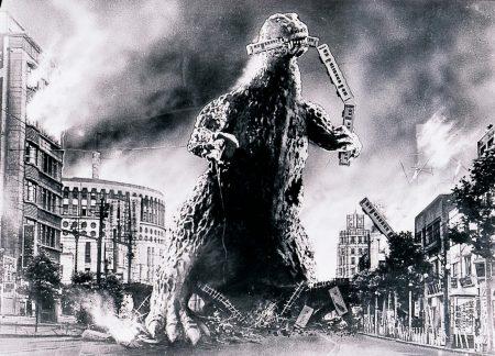 Godzilla Destroying Tokyo