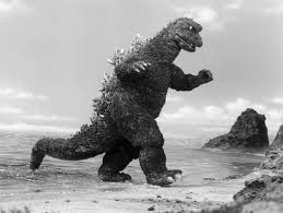 Godzilla on the beach
