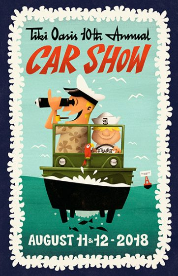 Tiki Oasis CAR SHOW 2018 poster
